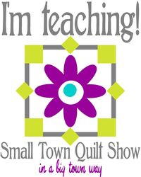Im teaching small town quilt show logos 1200px